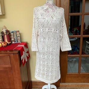 Josie Natori Crochet Boho Cotton Dress
